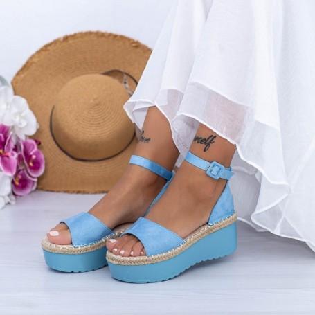 Sandale Dama cu Platforma KMD2 Albastru Mei