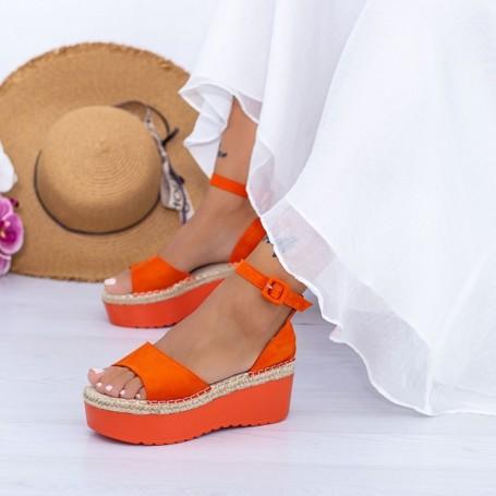 Sandale Dama cu Platforma KMD2 Portocaliu Mei