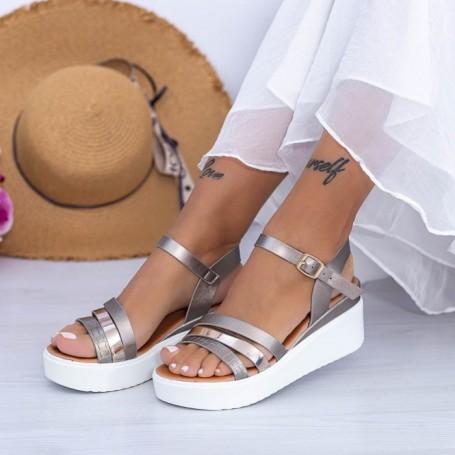 Sandale Dama cu Platforma PT15 Guncolor Mei