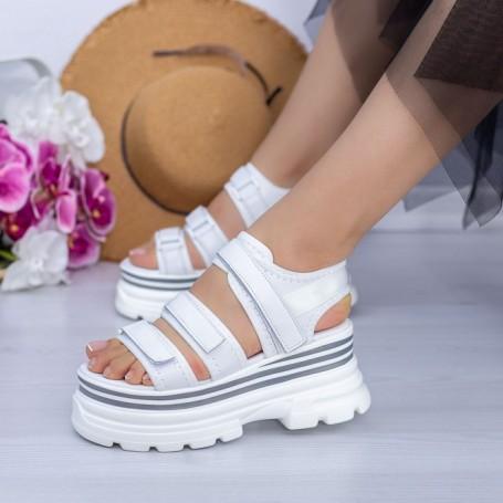 Sandale Dama cu Platforma WL25 Alb Mei
