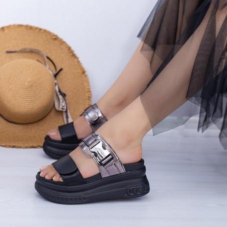 Papuci Dama cu Platforma WL26 Guncolor Mei