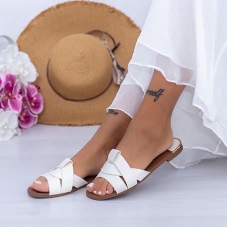 Papuci Dama WS180 Alb Mei