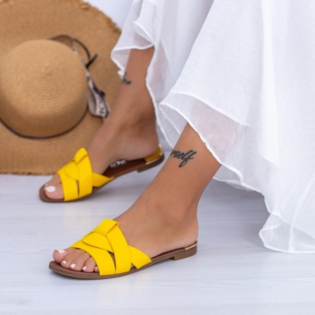 Papuci Dama WS180 Galben Mei