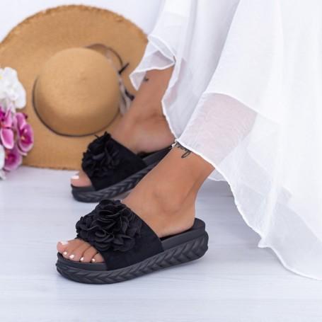 Papuci Dama WS195 Negru Mei