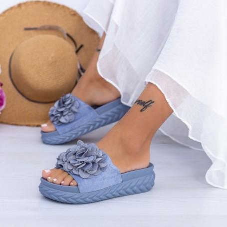 Papuci Dama WS195 Albastru Mei