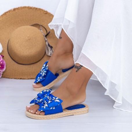 Papuci Dama WS196 Albastru Mei
