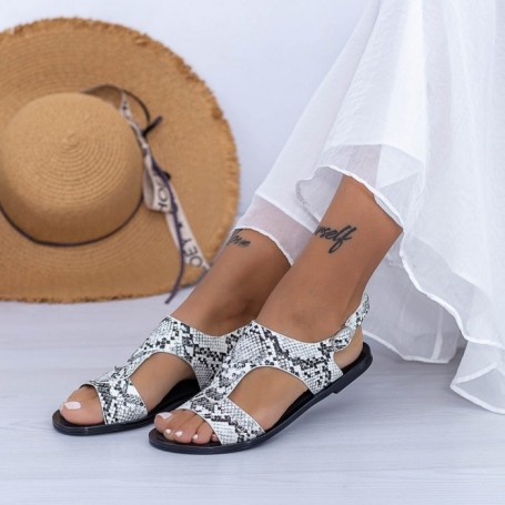 Sandale Dama XQJ5 Alb Mei
