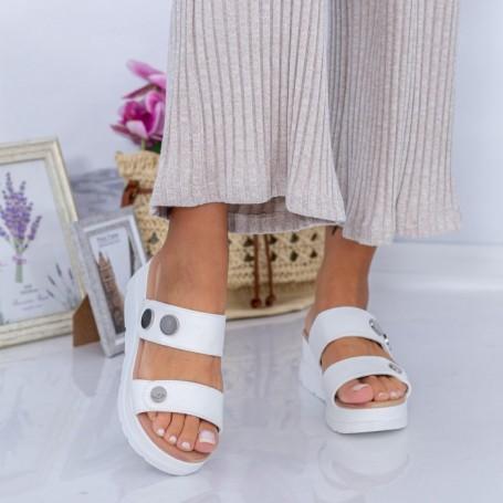Papuci Dama FS53 Alb Mei