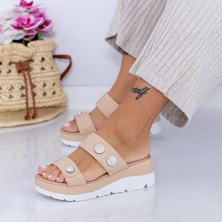 Papuci Dama FS53 Bej Mei