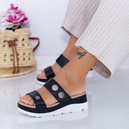 Papuci Dama FS53 Negru Mei