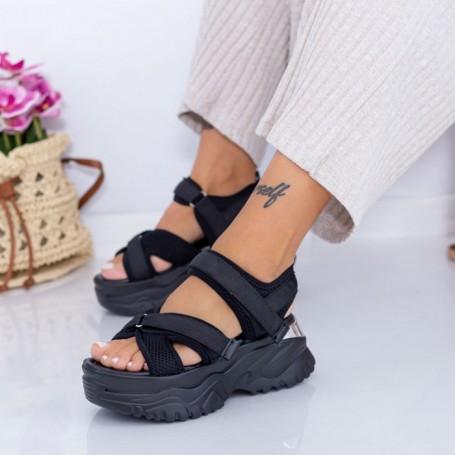 Sandale Dama cu Platforma WL22 Negru Mei