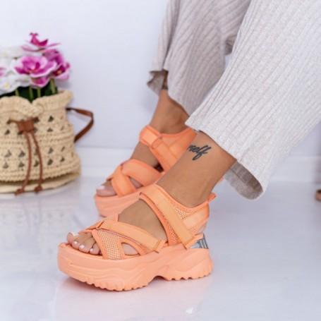 Sandale Dama cu Platforma WL22 Portocaliu Mei