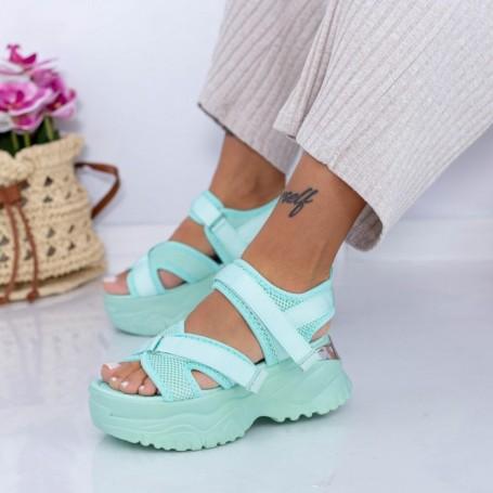 Sandale Dama cu Platforma WL22 Verde deschis Mei