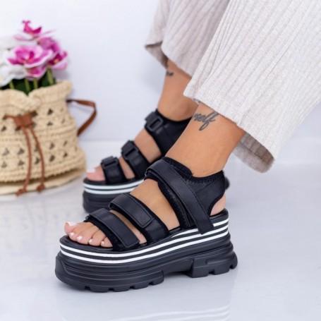 Sandale Dama cu Platforma WL25 Negru Mei