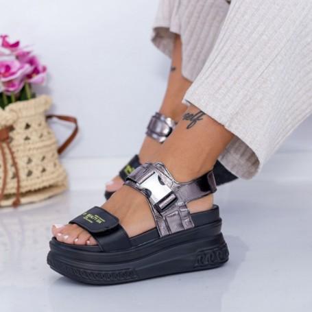 Sandale Dama cu Platforma WL27 Negru Mei