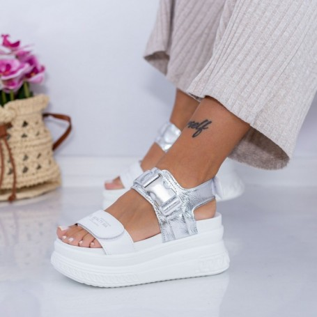 Sandale Dama cu Platforma WL27 Alb Mei