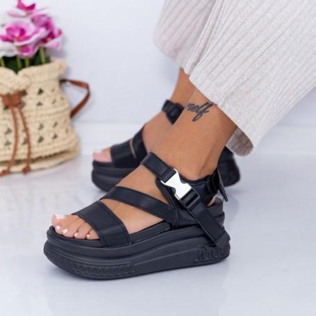 Sandale Dama cu Platforma WL28 Negru Mei