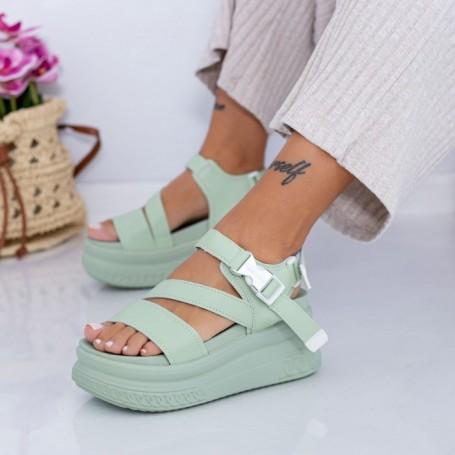 Sandale Dama cu Platforma WL28 Verde Mei