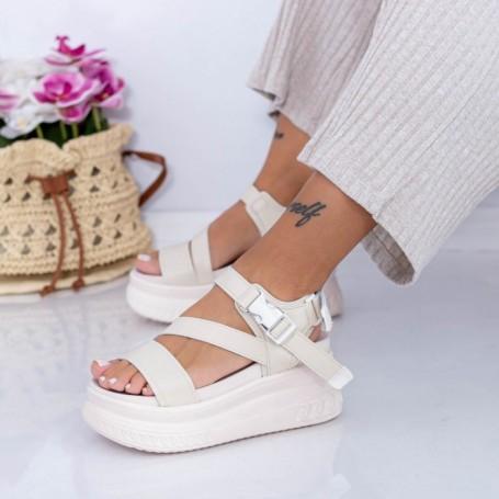 Sandale Dama cu Platforma WL28 Bej Mei