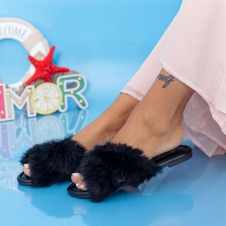 Papuci Dama LE207 Negru Mei
