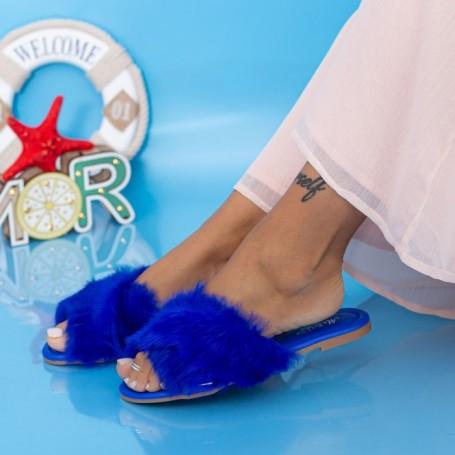Papuci Dama LE207 Albastru Mei
