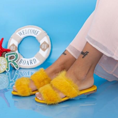 Papuci Dama LE208 Galben Mei