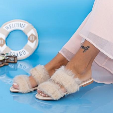 Papuci Dama LE208 Bej Mei