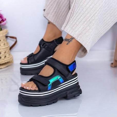 Sandale Dama cu Platforma WL29 Negru Mei