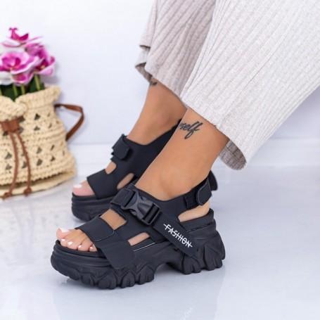 Sandale Dama cu Platforma WL33 Negru Mei