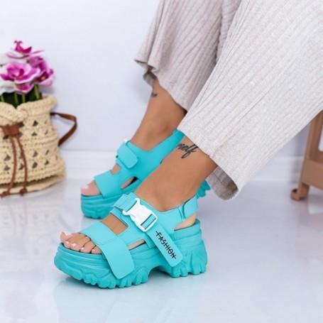 Sandale Dama cu Platforma WL33 Verde Mei