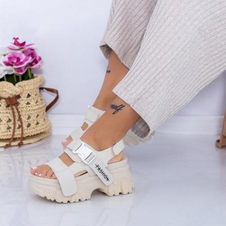 Sandale Dama cu Platforma WL33 Bej Mei