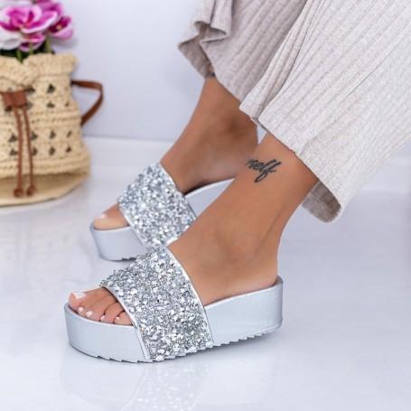 Papuci Dama X15 Argintiu Mei