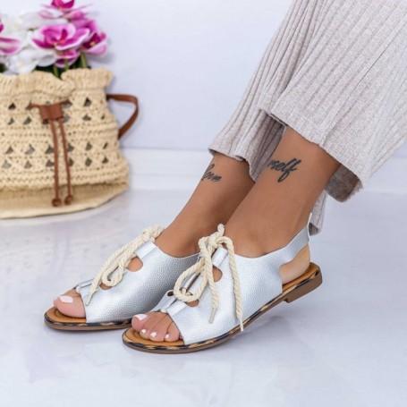 Sandale Dama XQJ3 Argintiu Mei