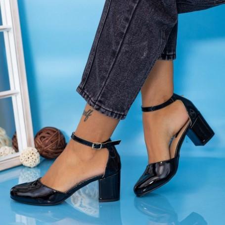 Sandale Dama cu Toc gros QZL200C Negru Mei