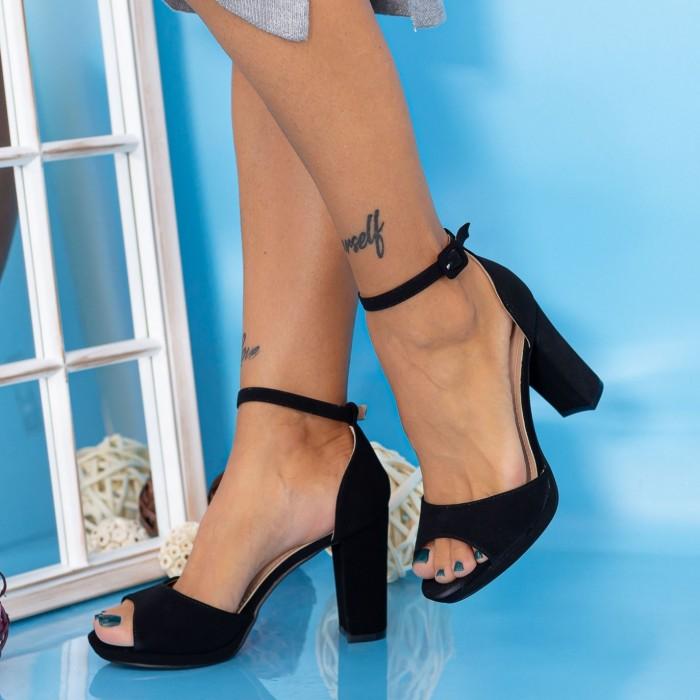 Sandale Dama cu Toc gros YXD6A Negru Mei