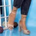Sandale Dama cu Toc gros YXD6 Champagne (B25) Mei