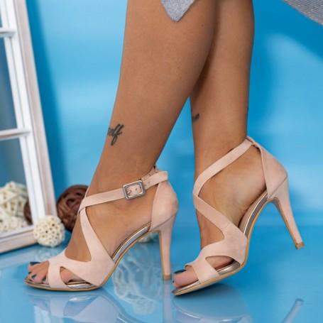 Sandale Dama cu Toc subtire YXD8 Nude Mei