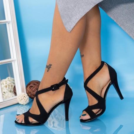 Sandale Dama cu Toc subtire YXD8 Negru Mei