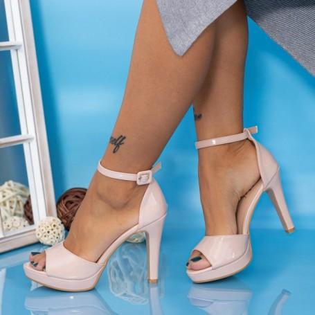 Sandale Dama cu Toc subtire YXD9 Nude Mei