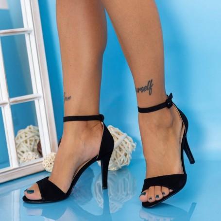 Sandale Dama cu Toc subtire YXD13 Negru Mei