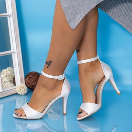 Sandale Dama cu Toc subtire YXD13 Alb Mei