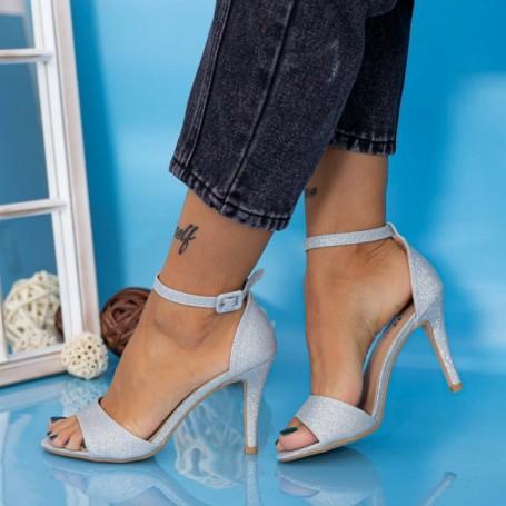 Sandale Dama cu Toc subtire YXD13A Argintiu Mei