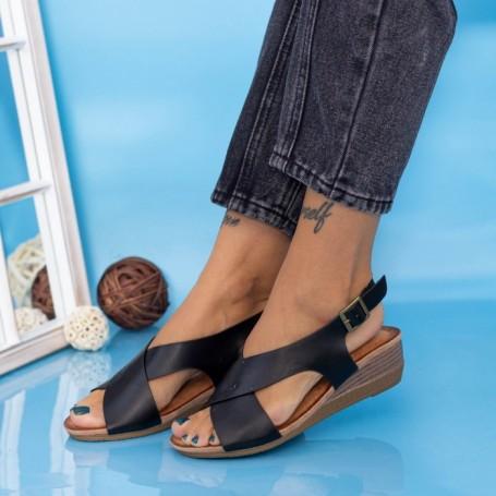 Sandale Dama cu Platforma GH1929 Negru Mei