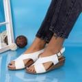Sandale Dama cu Platforma GH1929 Alb (P16) Mei