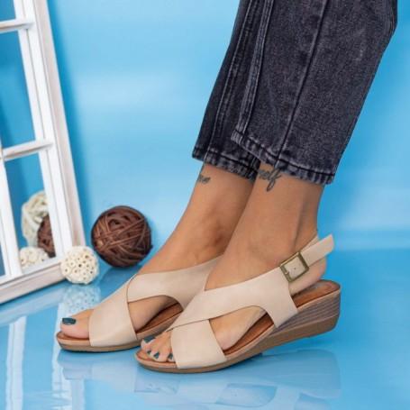 Sandale Dama cu Platforma GH1929 Bej Mei