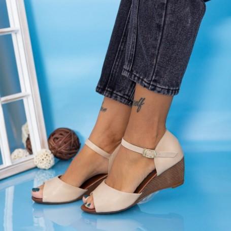 Sandale Dama cu Platforma GH1930 Bej Mei