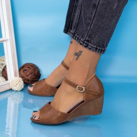 Sandale Dama cu Platforma GH1930 Maro deschis Mei
