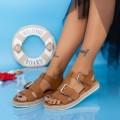Sandale Dama LE211 Maro deschis (N17) Mei
