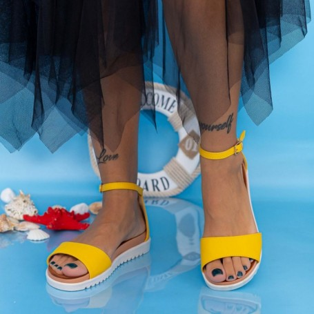 Sandale Dama PT6 Galben Mei