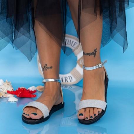 Sandale Dama PT8 Argintiu Mei